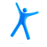 Persoon die in lucht springt Royalty-vrije Stock Afbeelding