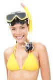 Persoon die met masker snorkelt Royalty-vrije Stock Afbeelding