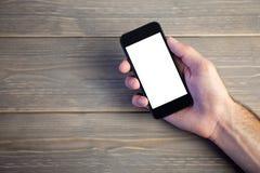 Persoon die mobiele telefoon tonen Stock Afbeeldingen