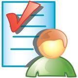 Persoon die pictogram controleert Royalty-vrije Stock Fotografie