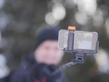 Persoon die selfie nemen Royalty-vrije Stock Fotografie