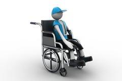 Persoon in een rolstoel wordt gehandicapt die Stock Fotografie