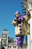 Persoon in masker in Venetië Carnaval 2011 Royalty-vrije Stock Afbeeldingen