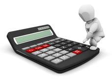 Persoon met calculator Stock Foto's