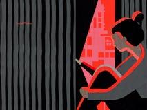 Persoon met sociale fobie, SAD vector illustratie