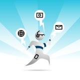 Persoon met Wearable Technologie Royalty-vrije Stock Afbeeldingen