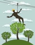 Persoon over een boom Royalty-vrije Stock Fotografie