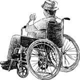 Persoon in rolstoel vector illustratie