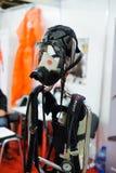 Persoonlijk beschermingsgasmasker bij de tentoonstelling in Kiev Royalty-vrije Stock Afbeelding
