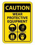 Persoonlijk beschermingsmiddel ( PPE) Isoleer op Witte Achtergrond, Vectorillustratie EPS 10 royalty-vrije illustratie
