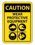 Persoonlijk beschermingsmiddel ( PPE) Isoleer op Witte Achtergrond, Vectorillustratie EPS 10 vector illustratie