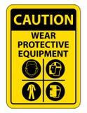 Persoonlijk beschermingsmiddel ( PPE) Isoleer op Witte Achtergrond, Vectorillustratie EPS 10 stock illustratie