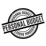 Persoonlijke Begrotings rubberzegel Stock Foto