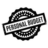 Persoonlijke Begrotings rubberzegel Stock Afbeeldingen