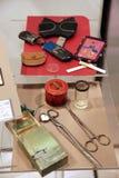 Persoonlijke bezittingen van de schrijver Mikhail Bulgakov, die aan het Museum van het de kunsttheater van Moskou door de kleinzo royalty-vrije stock foto
