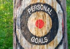 Persoonlijke doelstellingen royalty-vrije stock fotografie