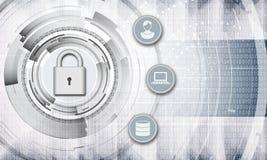 Persoonlijke gegevensbescherming abstracte achtergrond Royalty-vrije Illustratie