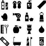 Persoonlijke hygiënepictogrammen Stock Fotografie