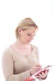 Persoonlijke medewerker die nota's neemt stock afbeelding