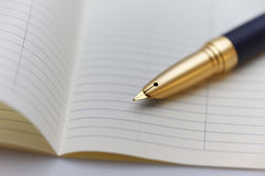 Persoonlijke organisator met een pen Royalty-vrije Stock Fotografie