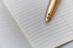 Persoonlijke organisator met een pen Royalty-vrije Stock Foto's