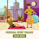 Persoonlijke Sporttrainer Background stock illustratie