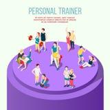 Persoonlijke Trainer Isometric Composition stock illustratie