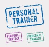 Persoonlijke trainer rubberzegel royalty-vrije illustratie