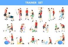 Persoonlijke trainerreeks vector illustratie
