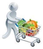 Persoons duwend karretje met groenten Royalty-vrije Stock Fotografie
