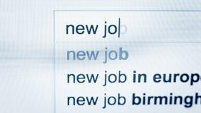Persoonstypes in een verzoek om nieuwe baan in Internet-browser stock footage