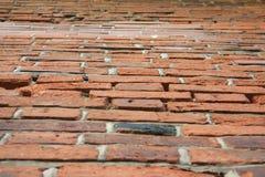 Perspecticve ściana z cegieł Zdjęcia Stock