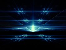 Perspectief backgrounnd - abstract digitaal geproduceerd beeld Stock Afbeelding