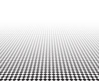 Perspectief geruite oppervlakte vector illustratie
