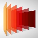 Perspectief kleurrijke abstracte rechthoeken op wit royalty-vrije illustratie