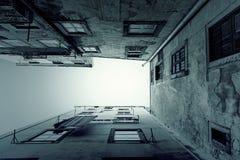 Perspectief op oude gebouwen Royalty-vrije Stock Afbeelding