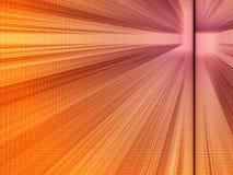 Perspectief: purper-oranje stock illustratie
