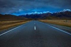 Perspectief van asfaltweg in mo van het de pas nationale park van Arthur ` s stock afbeeldingen