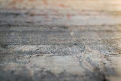 Perspectief van een oude concrete muur Royalty-vrije Stock Afbeeldingen