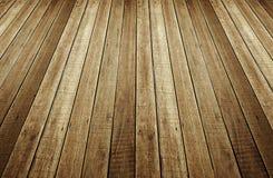 Perspectief van houten plankachtergrond Stock Foto