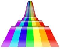 Perspectief van regenbooggolf stock illustratie