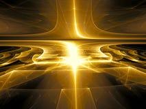 Perspectiefachtergrond - abstract digitaal geproduceerd beeld Royalty-vrije Stock Afbeelding