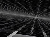 Perspectiefachtergrond - abstract digitaal geproduceerd beeld Stock Foto's