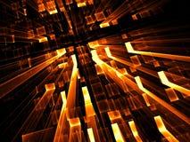 Perspectiefachtergrond - abstract digitaal geproduceerd beeld Royalty-vrije Stock Foto