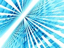 Perspectiefachtergrond - abstract digitaal geproduceerd beeld Stock Afbeelding