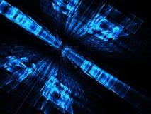 Perspectiefachtergrond - abstract digitaal geproduceerd beeld Royalty-vrije Stock Fotografie