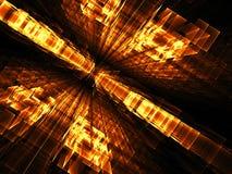 Perspectiefachtergrond - abstract digitaal geproduceerd beeld Stock Fotografie