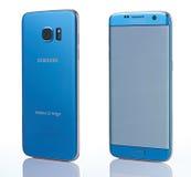 Perspectiefmening over Samsung-Melkwegs7 rand Stock Foto's