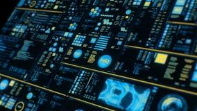 Perspectiefmening van kleurrijke futuristische interface/het Digitale scherm vector illustratie