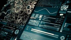 Perspectiefmening van lowpower futuristische interface/Digitale screen/HUD vector illustratie